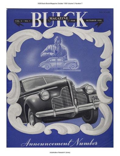 1939 Buick Magazine Oct  Volume 5  Number 7 (24pgs)