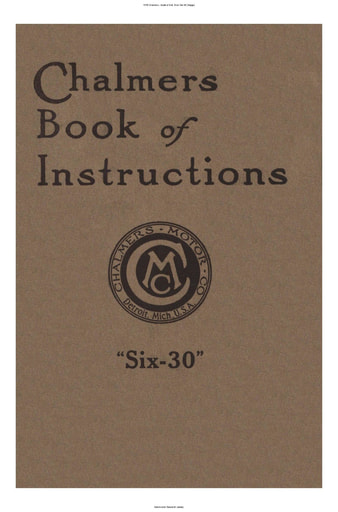1916 Chalmers   Book of Inst  Mod  Six 30 (54pgs)