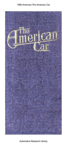 1906 American   The American Car (15pgs)