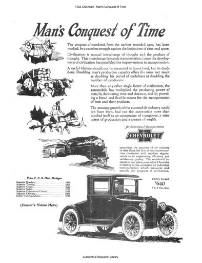 1923 Chevrolet   Man's Conquest of Time (8pgs)