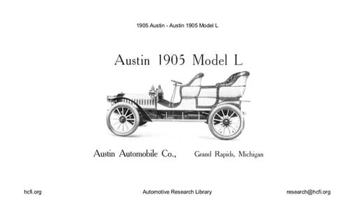1905 Austin   Model L (8pgs)