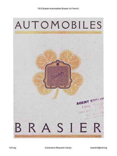 1912 Brasier   Automobiles Brasier (22pgs)