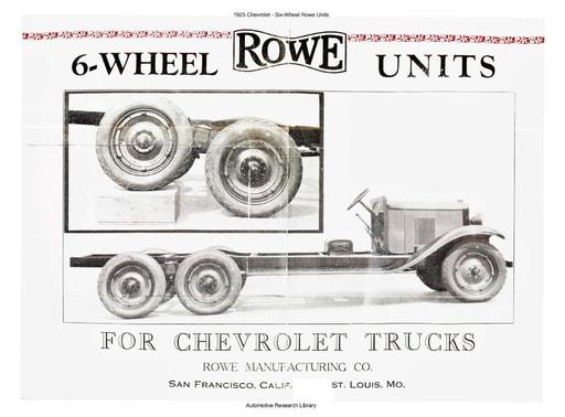 1925 Chevrolet   Six Wheel Rowe Units (2pgs)