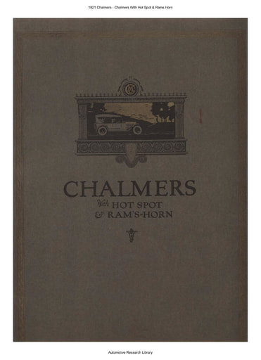 1921 Chalmers   With Hot Spot & Rams Horn (22pgs)