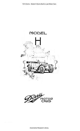 1913 Dorris   Model H (16pgs)