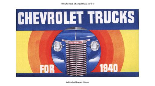 1940 Chevrolet   Trucks (38pgs)