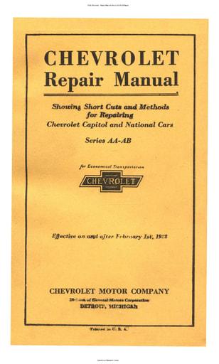 1928 Chevrolet   Repair Manual Series AA AB (263pgs)