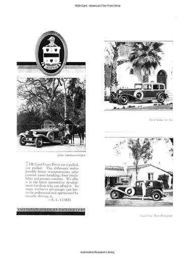 1929 Cord   America's First Front Drive (4pgs)