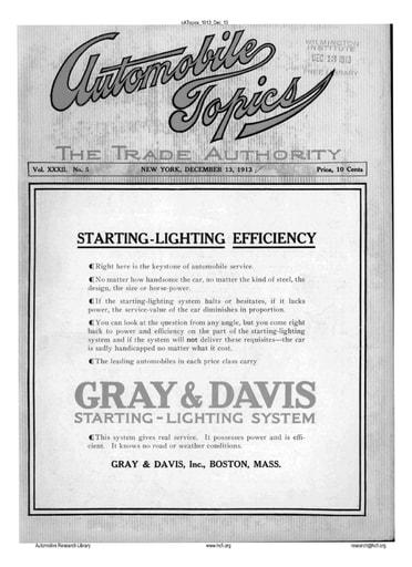 Auto Topics | 1913 Dec 13