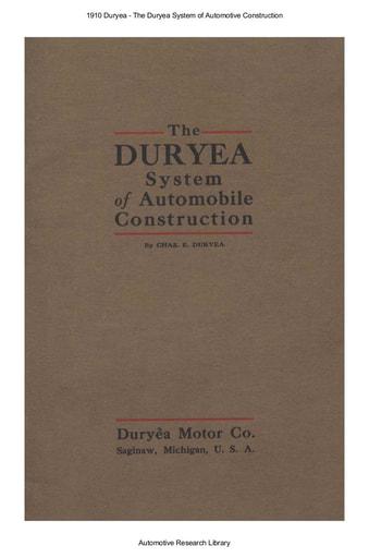 1910 Duryea System of Automotive Construction (32pgs)