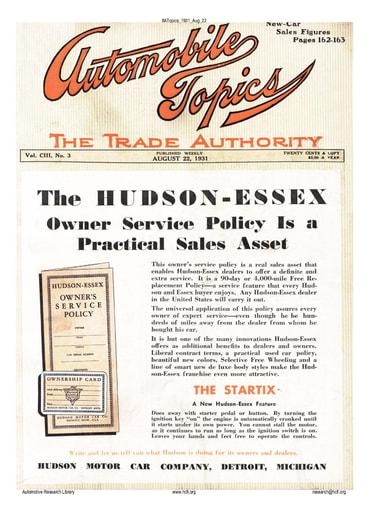Auto Topics | 1931 Aug 22