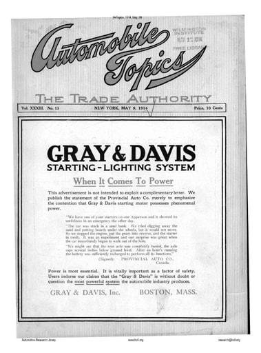 Auto Topics | 1914 May 09