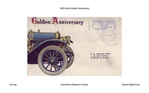 1903 Buick   Golden Anniversary (5pgs)