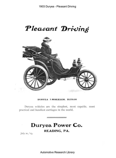 1903 Duryea   Pleasant Driving (4pgs)