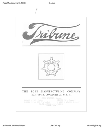 1910 Pope Manufacturing Co