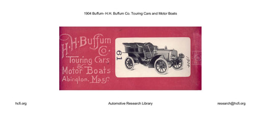 1904 Buffum  H H  Buffum Co  Touring Cars and Motor Boats (22pgs)
