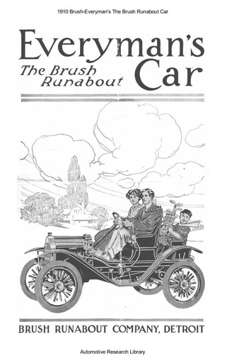 1910 Brush   The Runabout Car (8pgs)